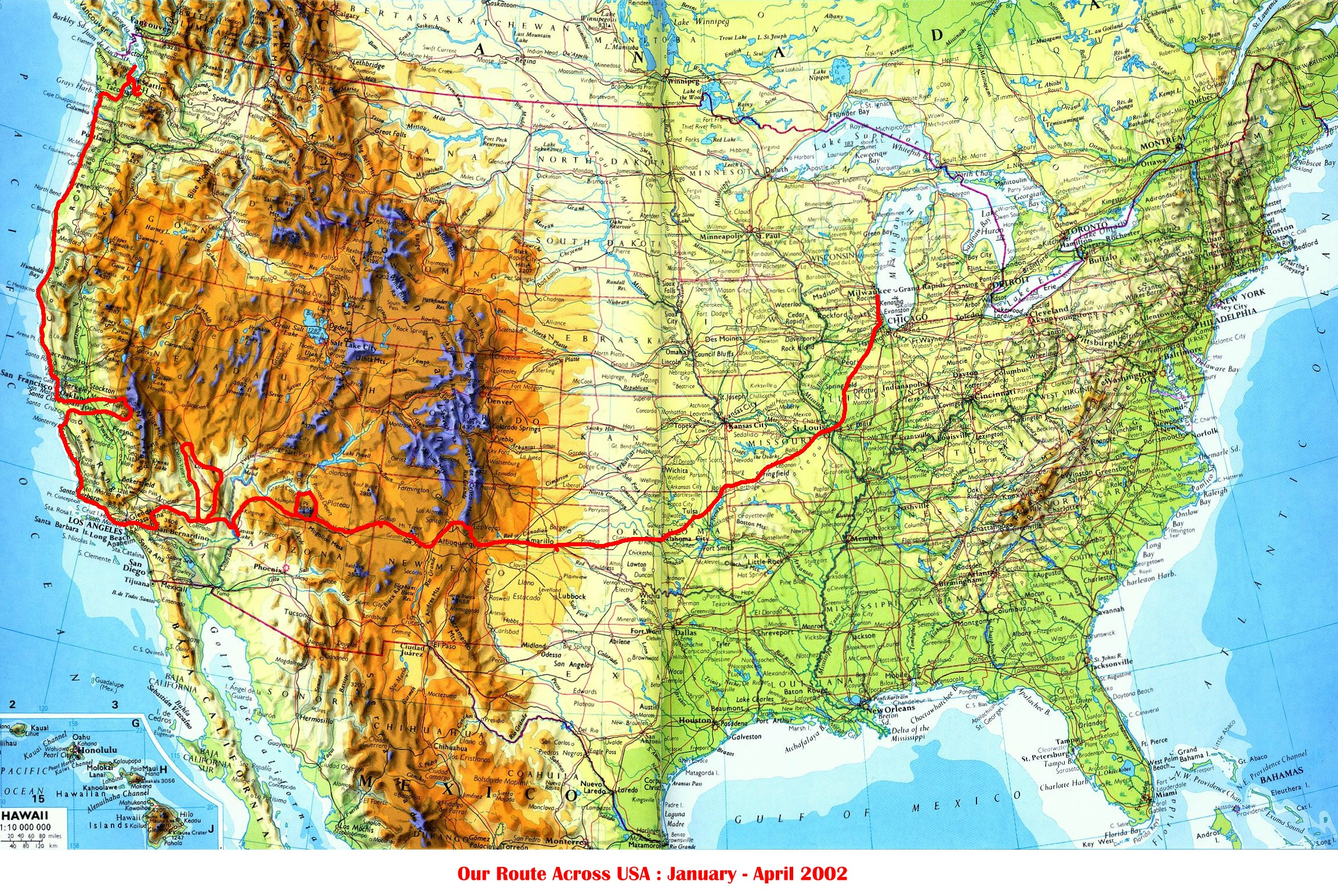 Route 66 and the West Coast USA