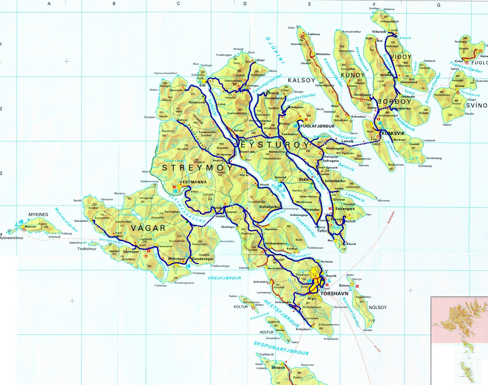 the faroes to home - our route around the faroe islands